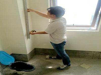 监理验收贴砖平整度