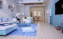 老房装修增加一点蓝色也是非常艳丽的