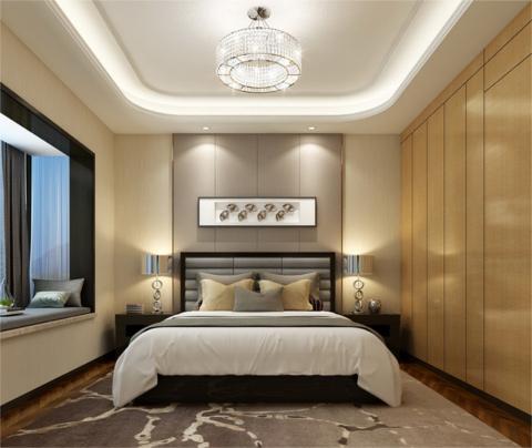 现代风格装修:海上一品(卧室)