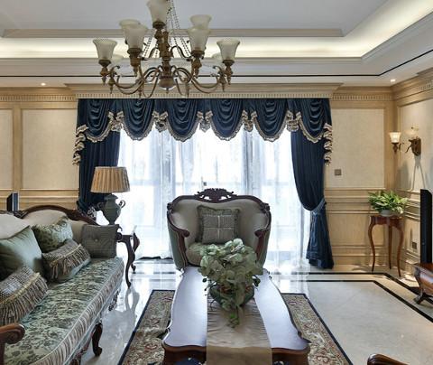 欧式风格:狮山名门(客厅)