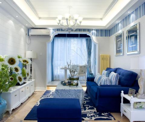 地中海风格:何山花园(客厅)