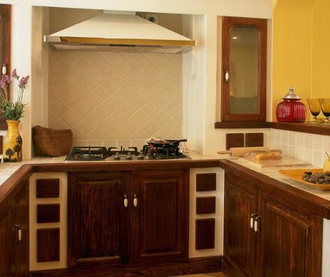 地中海风格:三香新村(厨房)