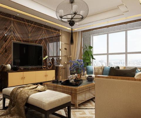 新中式风格:石湖之韵(客厅)