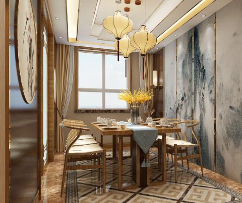 新中式风格:石湖之韵(餐厅)