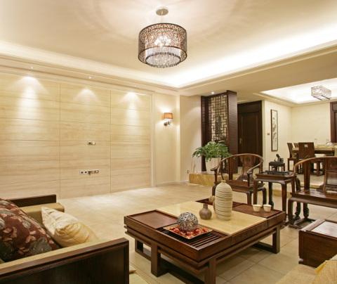 新中式风格:鼎泰花园(客厅)