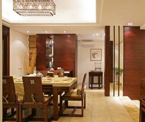 新中式风格:鼎泰花园(餐厅)