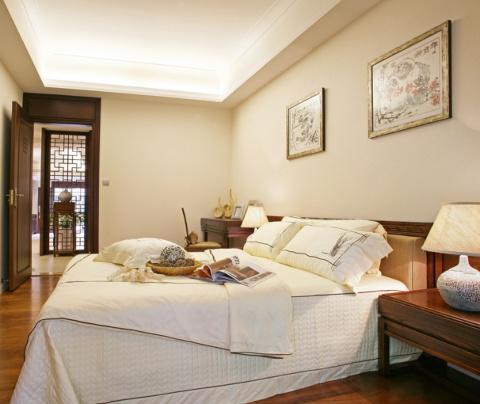 新中式风格:鼎泰花园(卧室)