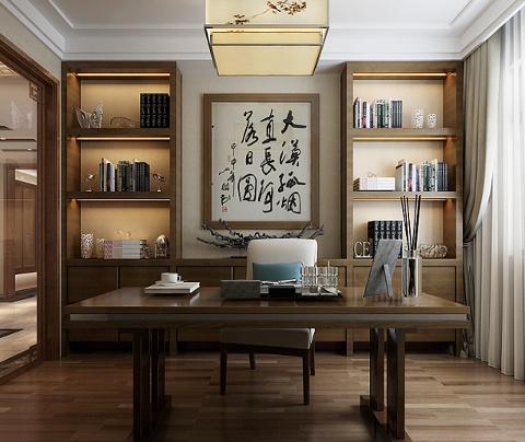 新中式风格:西塘小筑(书房)