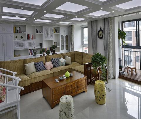 新中式风格:东方海悦花园(客厅)