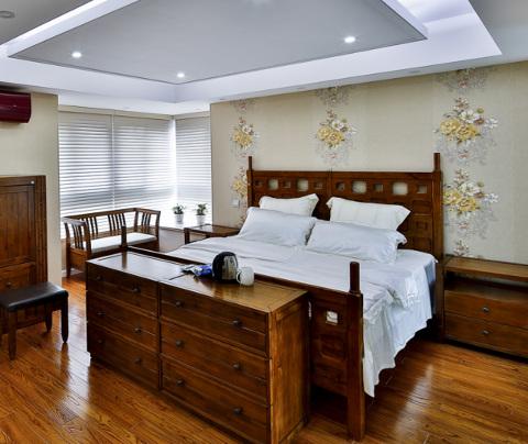 新中式风格:东方海悦花园(卧室)