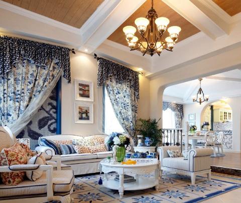 地中海风格:南城丽景(客厅)