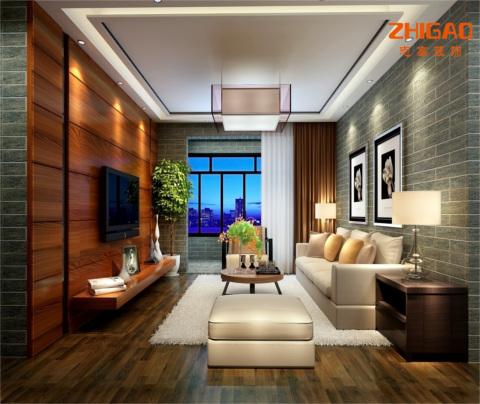 中式风格:荷澜庭(客厅)