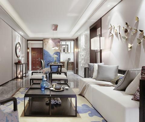 新中式风格:新升新苑(客厅)