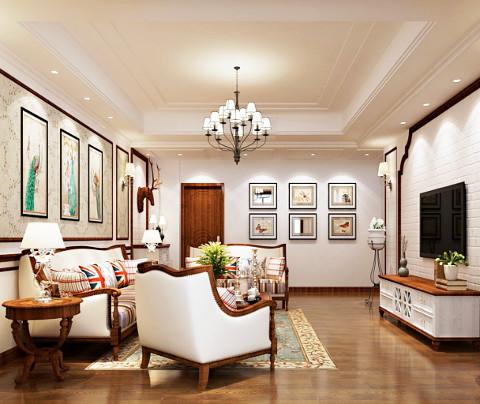 美式风格:瑞景国际(客厅)