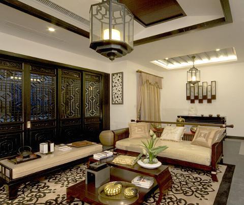 中式风格:四季晶华(客厅)