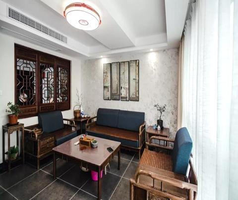 苏州新港名城花园新房装修风格为中式风格